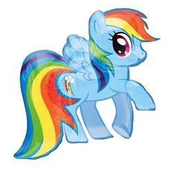 My Little Pony Regenboog Dash Supershape Ballon - 71 cm