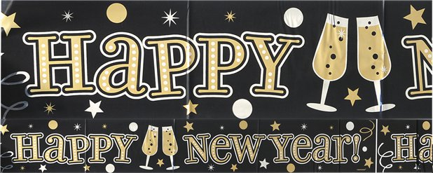 Happy New Year Banner - Folie - 2.7m
