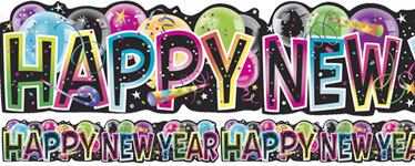 """Happy New Year"" Banner - 1.37m"