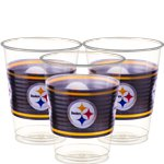 NFL Pittsburgh Steelers Bekers - 473 ml Plastic Feestbekers