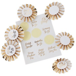 Oh Baby Baby Shower Badge Set