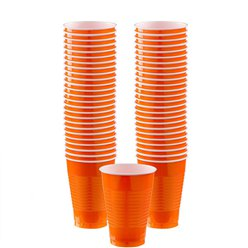 Oranje Bekers - 355 ml Plastic Feestbekers