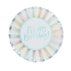 Iriserende Pastel 'It's My Birthday' Button