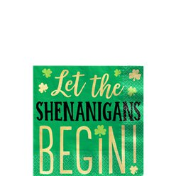 Let the Shenanigans Begin Drank Servetten - 25 cm