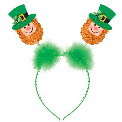 St. Patrick's Day Glitter Kabouter Ierse Haarband - St Patrick's Day Boppers - Volwassenen Een Maat front