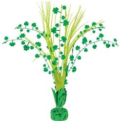 St Patrick's Day Klaverblad Spray Tafeldecoratie - 32 cm