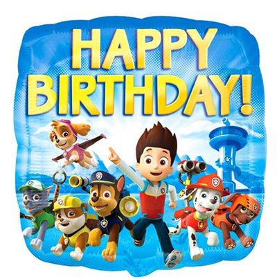 Paw Patrol Happy Birthday Ballon - 46 cm Folie