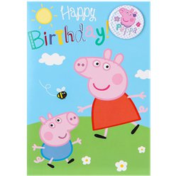 Peppa Pig Happy Birthday Kaart
