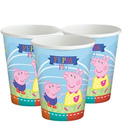 Peppa Pig Bekers - 260 ml Papieren Feestbekers - 200 ml