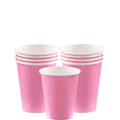 Babyroze Bekers - 266 ml Papieren Feestbekers