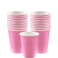 Babyroze Bekers - 266ml Papieren Feestbekers