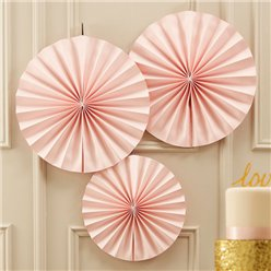 Pastel Perfection Roze Papieren Waaier Decoraties - 36cm