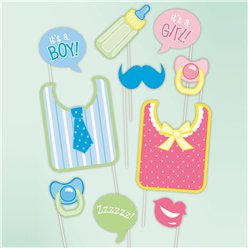 Babyshower Fotostandrequisiten