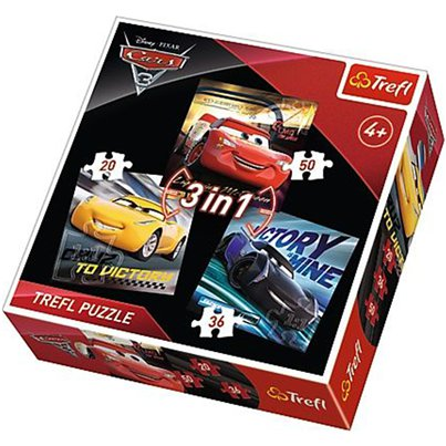 Disney Cars 3in1 Puzzelset