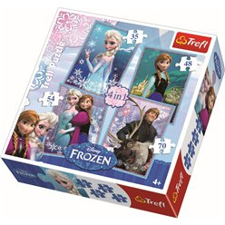 Disney Frozen 4 in 1 Puzzel