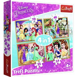 Disney Prinses 4 in 1 Puzzel