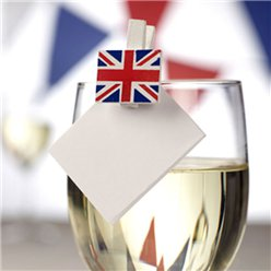 Union Jack Glas Decoraties - Mini Houten Wasknijpers
