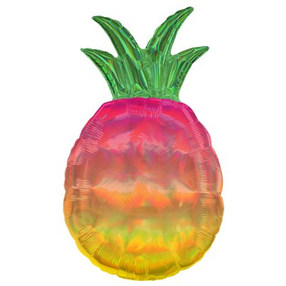 Iriserende Ananas Supershape Ballon - 79 cm Folie