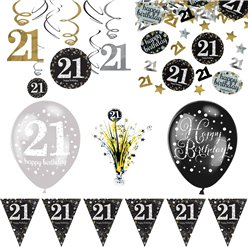 21e Glitterfeest Decoratieset - Deluxe