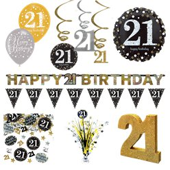 21e Glitterfeest Decoratieset - Premium