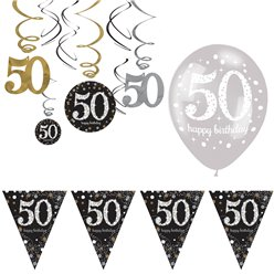 50e Glitterfeest Decoratie Set - Voordelig