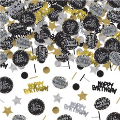 Gouden Glitterfeest Happy Birthday Confetti