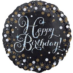 Happy Birthday Glitterfeest Ballon - 46 cm Folie