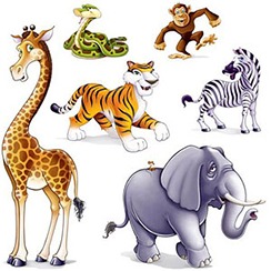 Jungle Dieren Muurstickers