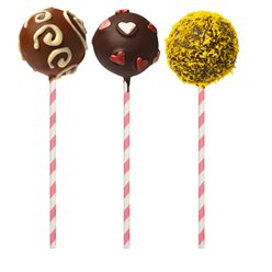 Zuurstok Strepen Cake Pop Sticks