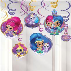 Shimmer & Shine Hangende Swirl Decoraties