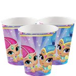 Shimmer & Shine Bekers - 266 ml Papieren Feestbekers