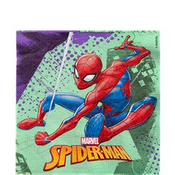 Spiderman Team Up Lunch Servetten - 33 cm