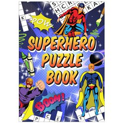 Super Hero Mini puzzelboek