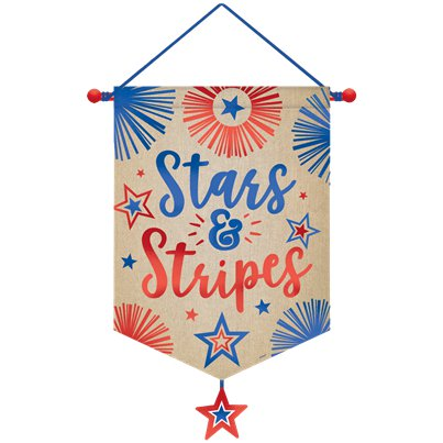 Stars & Stripes Canvas Banner - 55 cm