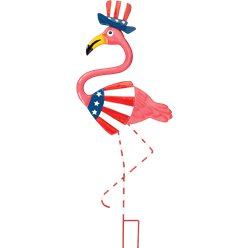 Patriottische Flamingo Metalen Tuinspel