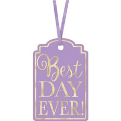 Lavendel Best Day Ever Labels
