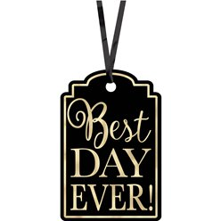 Zwarte Best Day Ever Labels