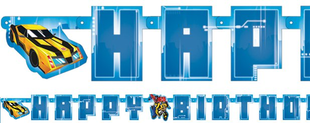 Transformers Letter Banner - 1.8m x 1.4m
