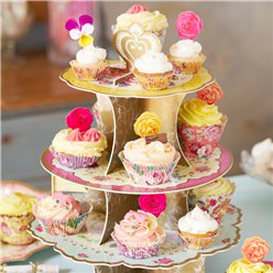 Vintage Tea Party Cupcake Houder
