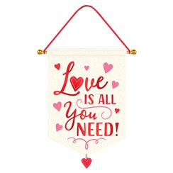 Love Is All You Need Hangend Canvasbord