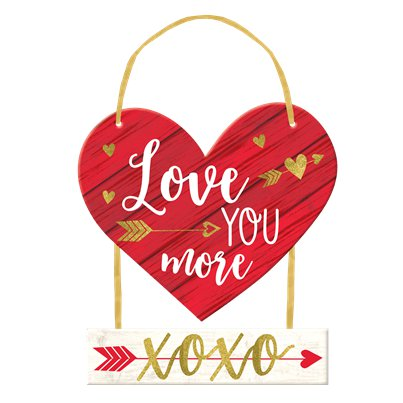 Love You More Deluxe Hangende MDF Banner