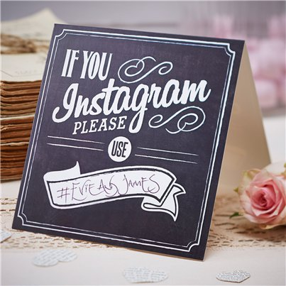Een Vintage Affaire 'If You Instagram' Bruiloft Tafel Borden