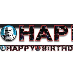 Star Wars 'Happy Birthday' Letter Banner - 1.6m