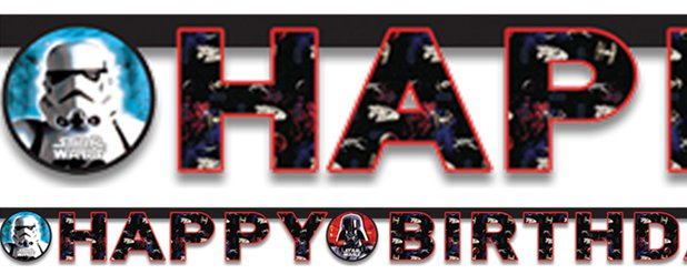 Star Wars 'Happy Birthday' Letter Banner