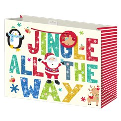 "Grote ""Jingle All The Way"" Kerstmis Cadeautas - 33 cm"
