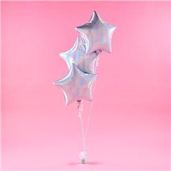Iriserende Ster Folie Ballon Set