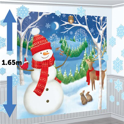 Winter Vrienden Muurdecoratie Set - 1.65m