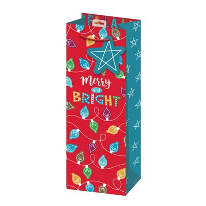Merry and Bright Kerstmis Fleszak - 35 cm