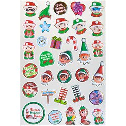 Ondeugende Elf Bubbel Stickers