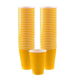 Gele Bekers - 355 ml Plastic Feestbekers